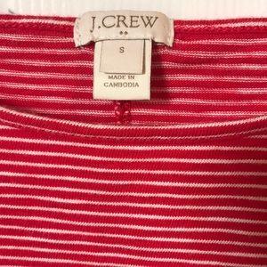 J. Crew Tops - J. Crew Red & White Striped Peplum Top Small EUC